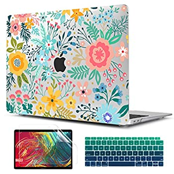 TwoL Case for New MacBook Air 13 inch Plastic Hard Shell Case Cover Keyboard Skin & Screen Protector Compatible MacBook Air 13 inch 2018 2019 2020 Model A1932 A2179 A2337 M1 Abstract Flower