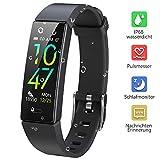 Dwfit Fitness Uhr mit Pulsmesser,Wasserdicht Fitness Armband Aktivitätstracker Fitness Tracker Schrittzähler Uhr Sportuhr