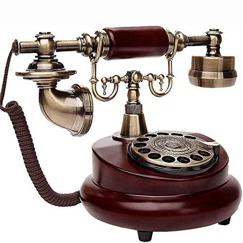 Cajolg Teléfono Fijo Retro con Cable Teléfono Fijo Teléfono Vintage Teléfono de casa y Oficina Oficina Teléfono Fijo Retro con Cable Marcación por botón con diseño Giratorio
