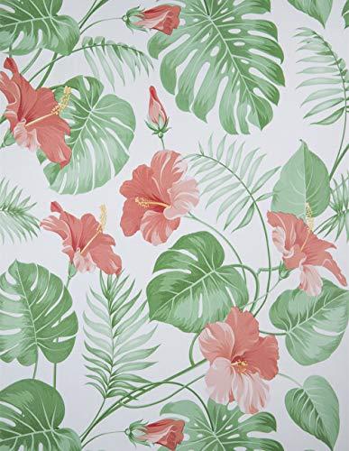 Hode Papel pintado adhesivo de plástico adhesivo de hoja floral de vinilo rollo decorativo adhesivo para muebles pared...