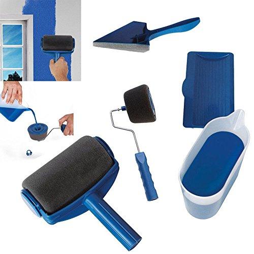 Lot de 7 pinceaux de peinture multifonction PRP Paint Runner Pro Professional Roller – Bleu universel
