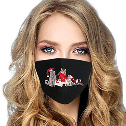 PPangUDing Mundschutz Waschbar Wiederverwendbar Atmungsaktive Staubdicht Weihnachten Gedruckt Bandana Halstuch Schlauchschal Multifunktionstuch für Damen und Herre