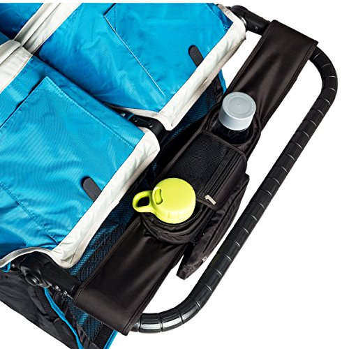 Best Buy! Ethan & Emma Double Stroller Organizer with Cup Holders - Fits Both Single & Double Stroll...