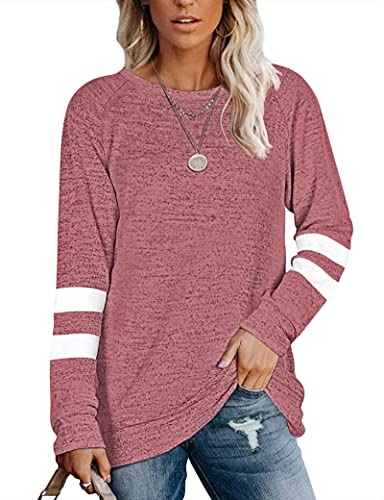 MOLERANI Sudaderas para Mujer Suéteres Ligeros Túnicas para otoño Rojo XL
