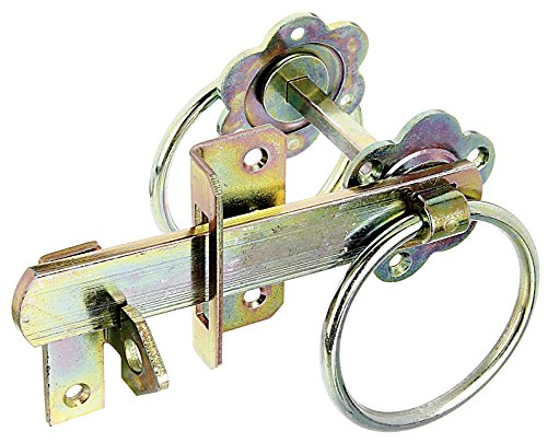 GAH-Alberts 210250 Gartentorverschluss für hohe Tore oder Flechtzauntüren - galvanisch gelb verzinkt