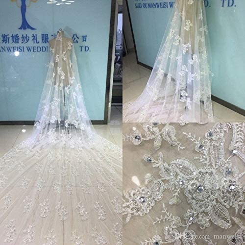 Luxury Bridal Special price for a limited time Veils Cathedral Length with Max 50% OFF Long Free Comb 5 M Whi