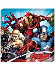Procos - Servilleta 33 x 33 cm Avengers Mighty, multicolor, 5PR87967
