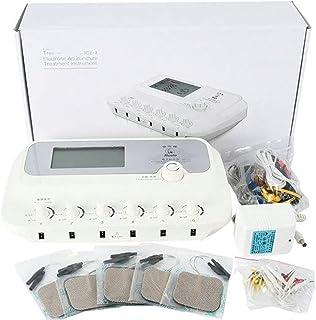 LYHD Electroestimulador TENS EMS Estimulador Muscular Masajeador Electro 6 Canales Digital Acupuntura Masajeador Corporal Meridiano Máquina de Fisioterapia Electroestimulador Muscular de Relajación