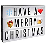 A4 Cinematic Lightbox | Includes 205 Letters & Emoji | Illuminated Light Up