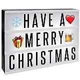 A4 Lightbox | Schild mit 205 Buchstaben und Emoji | USB-Kabel | Ersatzbuchstaben, Zeichen, Emoticons...