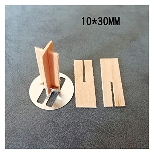 QWSX Wax core 10pcs DIY Handmade Natural Wood Core Soybean Wax Candle Wick Aroma Candle Cross Wood Chip Wick Economic and environmental protection (Color : S)