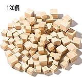 木製キューブYangbagaウッドキューブ120個セット 大人、初心者に適用 DIY 工芸品 誕生日お祝い 全2サイズ