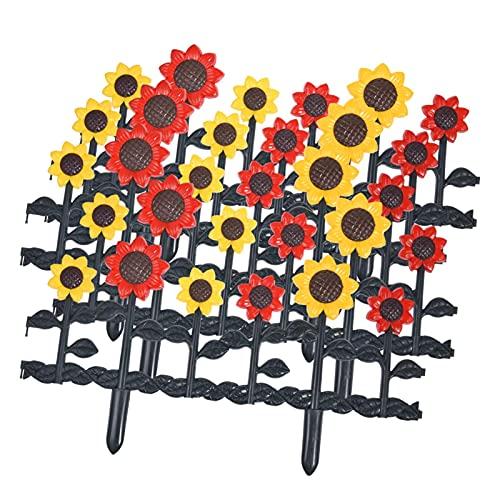 Qians Gartenzaun Metallplatten Sonnenblumen Zaun Schmückt Landschaftskantenzaun Bunter Gartenzaun Dekorativer Metall Gartenzaun Außenbeschichteter Rostfreier Metallgarten accepted