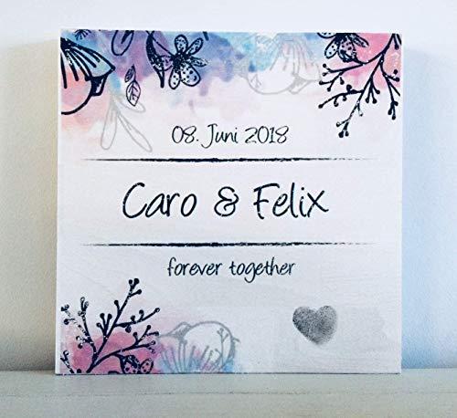 Hochzeitsgeschenke, Geldgeschenke, Hochzeit personalisiert für Brautpaar mit Fingerabdruck