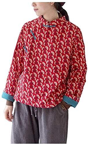Mujeres Puffer Coat Retro Invierno Abrigo cálido acolchado Outwear