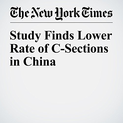 Study Finds Lower Rate of C-Sections in China copertina