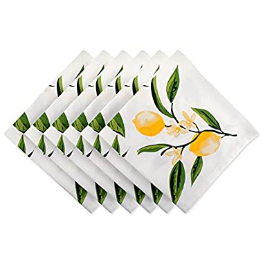 DII Oversized Cotton Napkin for Summer BBQ, Fall, Dinner Parties, Special Occasions or Everyday Use - 20x20, Lemon Bliss