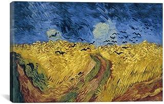 Campo de trigo con cuervos Lienzo Lámina por Vincent van Gogh, 18 por 12 pulgadas