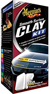 Meguiar's Smooth Surface Clay Kit Includes: 2 x 80 gram Clay Bars, 16 oz Quik Detailer and Supreme Shine Microfiber Towel