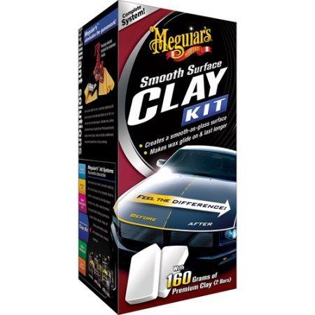 Meguiar 's Smooth Surface Clay Kit beinhaltet: 2x 80Gramm Bars, 16oz Quik Detailer und Supreme Shine Mikrofaser-Handtuch