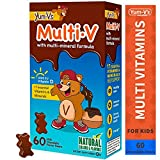 Yum-V MultiVitamins Chewables for Kids, Milk Chocolate (60 Ct); Daily Dietary Supplement w/Essential Vitamins & Minerals – Vitamin D, B12, B6, E, C, A, Zinc, Magnesium, Kosher, Halal, Gluten Free