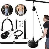 Seilzugsystem, Kabelsystem-Maschine, DIY-Fitnessgerät mit 2 abnehmbaren Griffen, Heim-Fitnessgerät für das Training von Bizeps, Trizeps, Schultern und Rücken