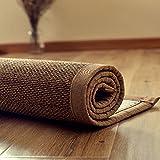 Tappeto Bamboo Intrecciato,Comodo Pavimento Stuoia,Grande Materasso in Rattan,Estate La Zona Tappeti Marrone Scuro,Antiscivolo,2cm di Spessore,per...