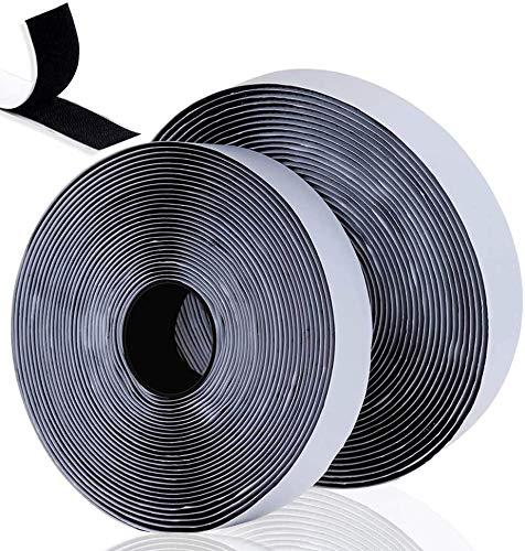 Belcro Adhesivo Fuerte, 8m Autoadhesivo Cara Cintas adhesivas de tela Reutilizable Tiras...