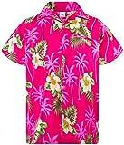 King Kameha Funky Hawaiihemd, Kurzarm, Small Flower New, Magentapink, S