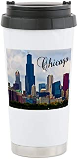 CafePress Chicago_4.25X5.5_Noteca Stainless Steel Travel Mug, Insulated 16 oz. Coffee Tumbler