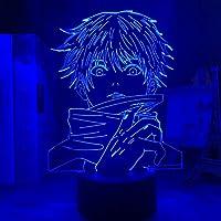 女の子のための3Dナイトライト、アニメランプ呪術廻戦ライト呪術廻戦Led for Jujutsu Kaisen Nightlight Satoru Gojo Lamp for Birhday / Xmas Gift(タッチコントロール)