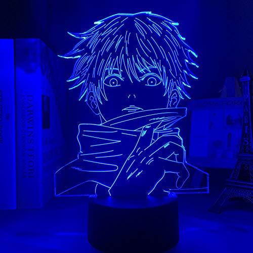 San Valentín 20213D Luz nocturna anime lámpara Satoru Gojo Luz Jujutsu Kaisen LED Luz nocturna para regalo de cumpleaños Decoración de Dormitorio Luz de alta calidad