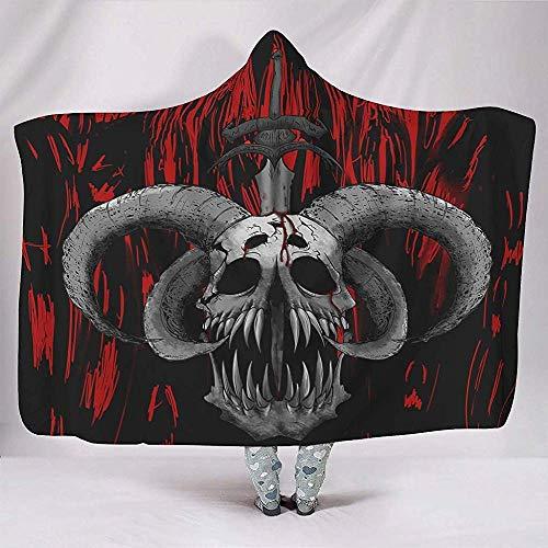 Nat Abra Gotische Satan Geit Zwaard Tattoo Print Dekens Knuffelig Warm Winter Dikke Sherpa Deken Kaap Wrap Voor Vrouwen Mannen Kids Slapende Stoel Home Decor