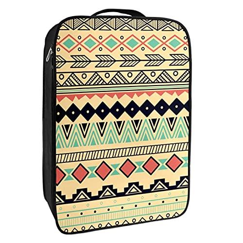 nakw88 Bohemia Boho - Bolsa para zapatos con capacidad para 1 – 2 pares de zapatos para viajes y uso diario, sistema de embalaje conveniente para tus zapatos