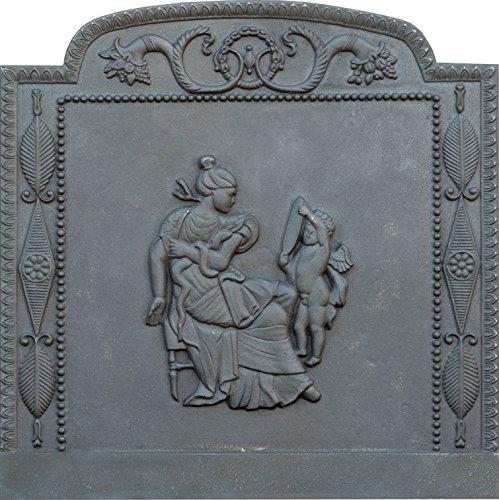 Lunaway Kaminplatte Ofenplatte für Kamin aus Gusseisen - Venus, Maße: 80 x 80 cm Dicke: 1,2 cm