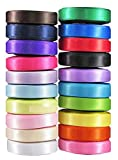 Ribbon for Crafts-Hipgirl 100 Yards 3/8' Satin Ribbon Set For Gift...
