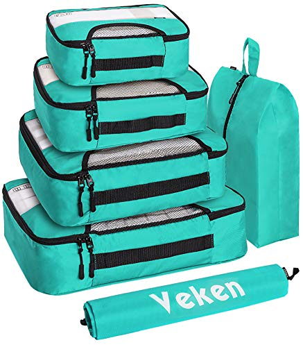 Veken 6 Set Packing Cubes, Travel Luggage Organizers with Laundry Bag...