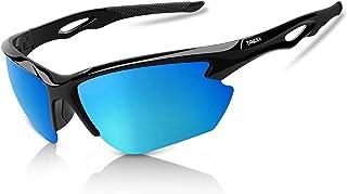 BONDDI - Gafas de Sol Deportivas, Gafas de Sol Deportivas Polarizadas para Hombre y Mujer, Protección UV400, Montura TR90 Ligera y Envolvente para Ciclismo Pesca Golf Running Conducción Esquí Senderismo