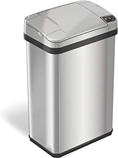 Best iTouchless 4 Gallon Sensor Trash Can with Odor Filter and Fragrance, Touchless Automatic Stainless Steel Waste Bin, Perfect for Office and Bathroom Review