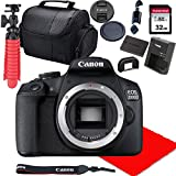 Canon EOS 2000D / Rebel T7 DSLR Camera Body Only (No Lens) + 32GB SD Card + More (Renewed)