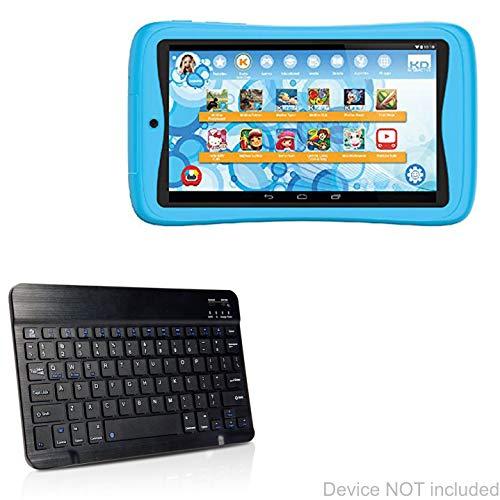 Kurio Tab Advance Keyboard, BoxWave [SlimKeys Bluetooth Keyboard] Portable Keyboard with Integrated Commands for Kurio Tab Advance - Jet Black