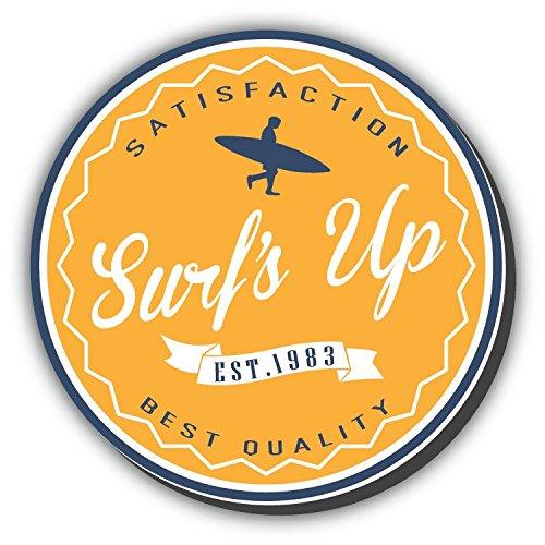 Surf's Up Surfing Label Vintage Retro Alta Calidad De Coche De Parachoques Etiqueta Engomada 12 x 12 cm