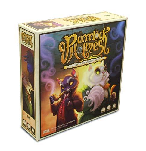 Asmodee - Purrrlock Holmes-Juego de Mesa para 2 Jugadores o más -...