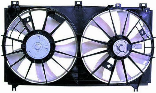 Dual Radiator and Condenser Fan Assembly - Cooling Direct For/Fit LX3120101 06-13 Lexus IS 250 2.5L