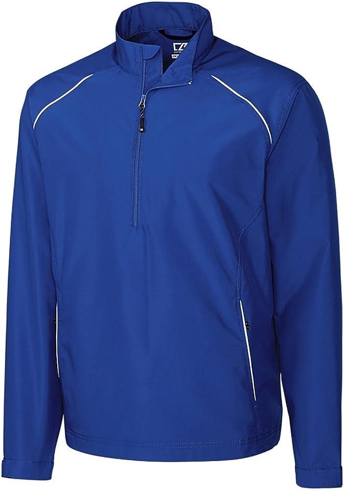 Cutter & Buck BCO00922 Men's CB WeatherTec Beacon Half Zip Jacket Tour Blue LT