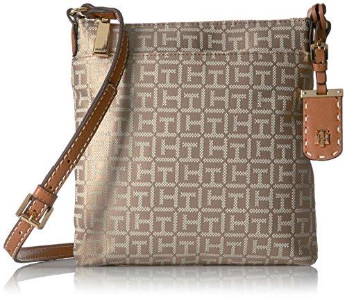 Tommy Hilfiger Crossbody Bag for Women Julia, Khaki Tonal
