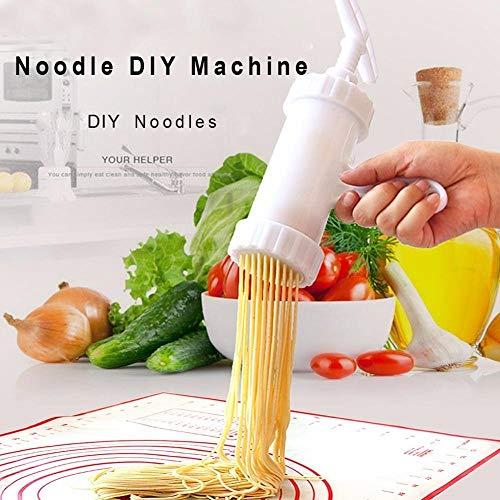 Inicio Máquina para hacer fideos Herramienta de cocina Máquina para hacer pastas Máquina para hacer papas espaguetis Cortador de fideos Máquina de bricolaje para prensar fideos