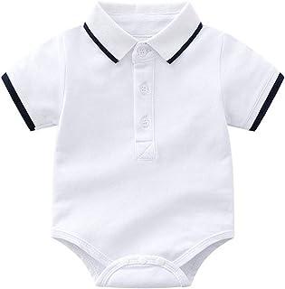 Bebé Mameluco de Algodón Camisa Polo Mono Peleles Niños Niñas Manga Corta Pijama Ropa de Dormir