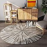 Hogreat Teppiche Teppich Nordic Moderne minimalistische Runde Bequeme verdickte Computer Stuhl Drehstuhl Kissen verstreut weich Wohnzimmer Schlafzimmer Studie (Ma?stab:180) (Color : 140)