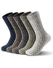 ElifeAcc 5 pares mujer invierno tejido de punto espesar algodón cálido calcetines calcetines térmicos 4-6.5UK 35-39EU